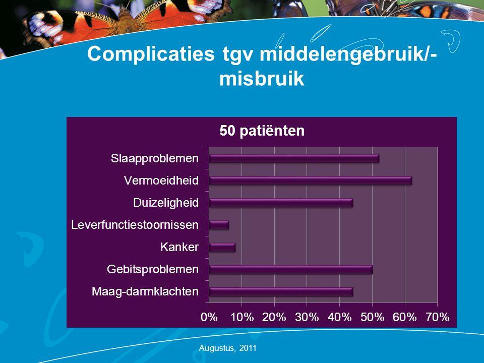 Complicaties tgv middelengebruik/-misbruik