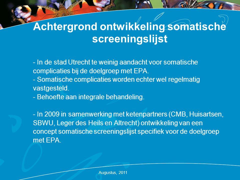 Achtergrond ontwikkeling somatische screeningslijst