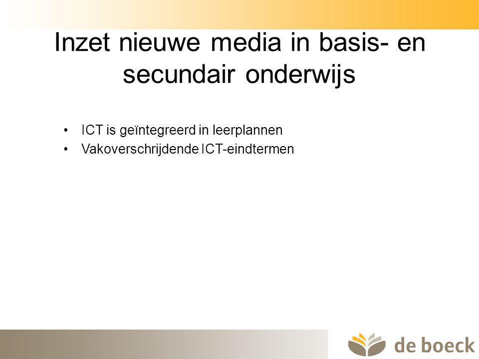 Inzet nieuwe media in basis- en secundair onderwijs