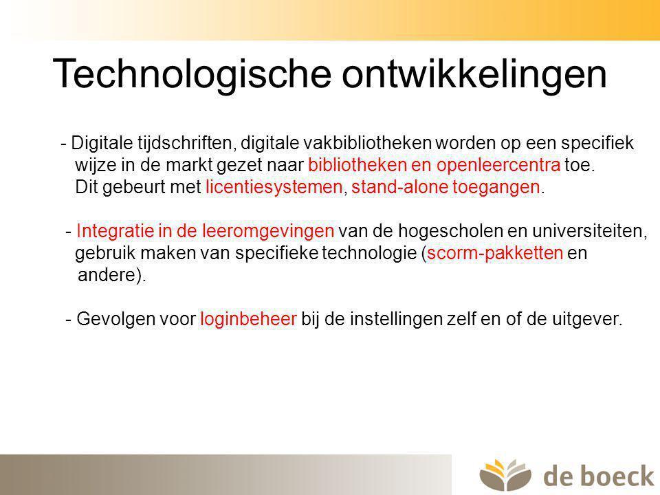 Technologische ontwikkelingen