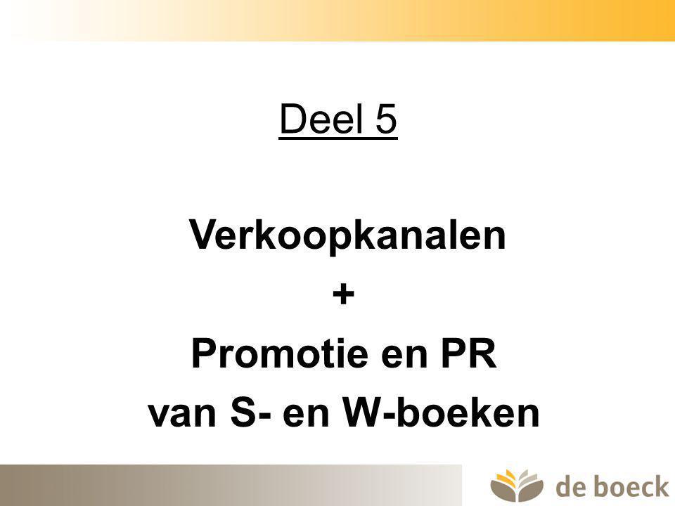 + Promotie en PR van S- en W-boeken