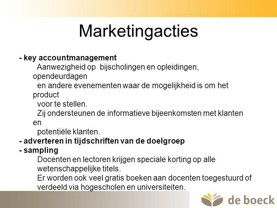 Marketingacties - key accountmanagement
