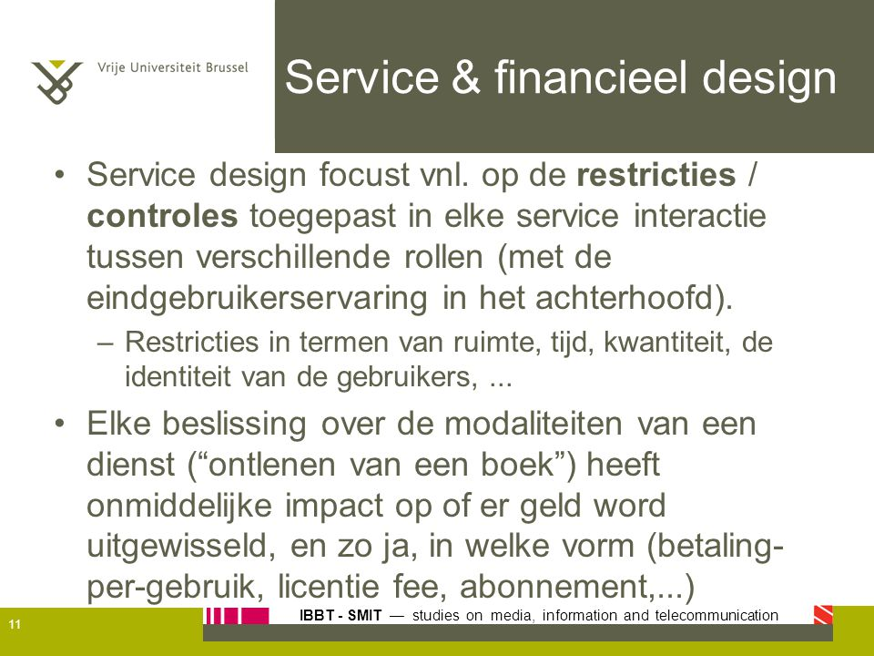 Service & financieel design