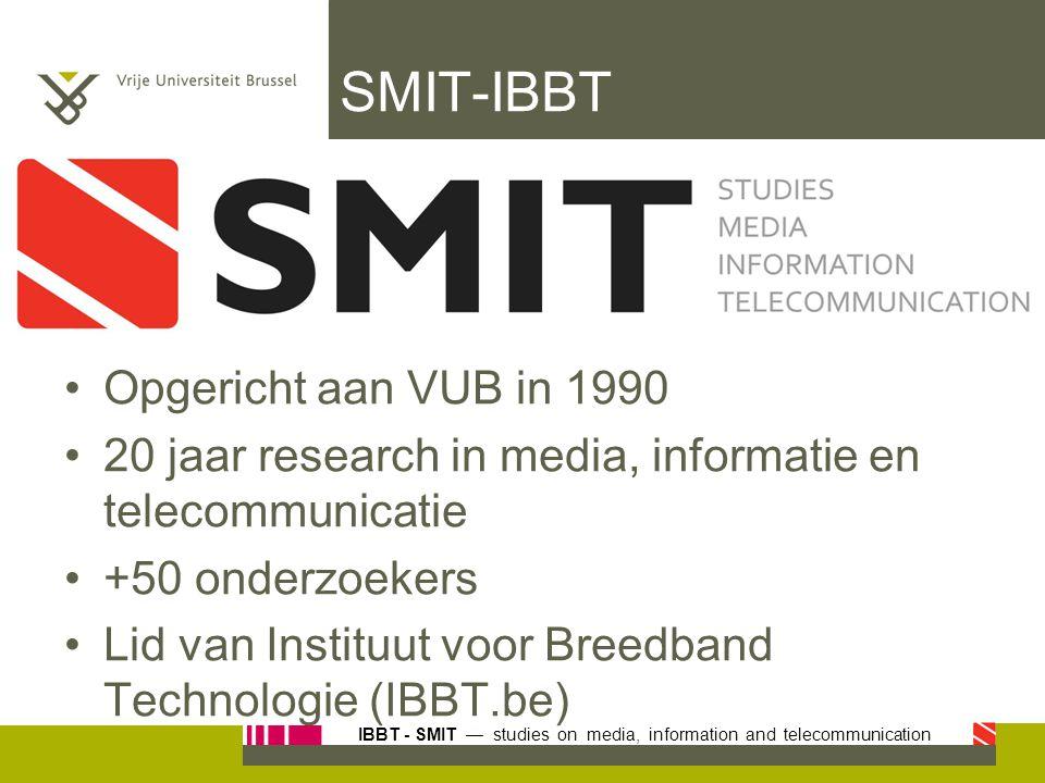 SMIT-IBBT Opgericht aan VUB in 1990