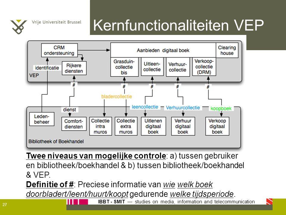 Kernfunctionaliteiten VEP
