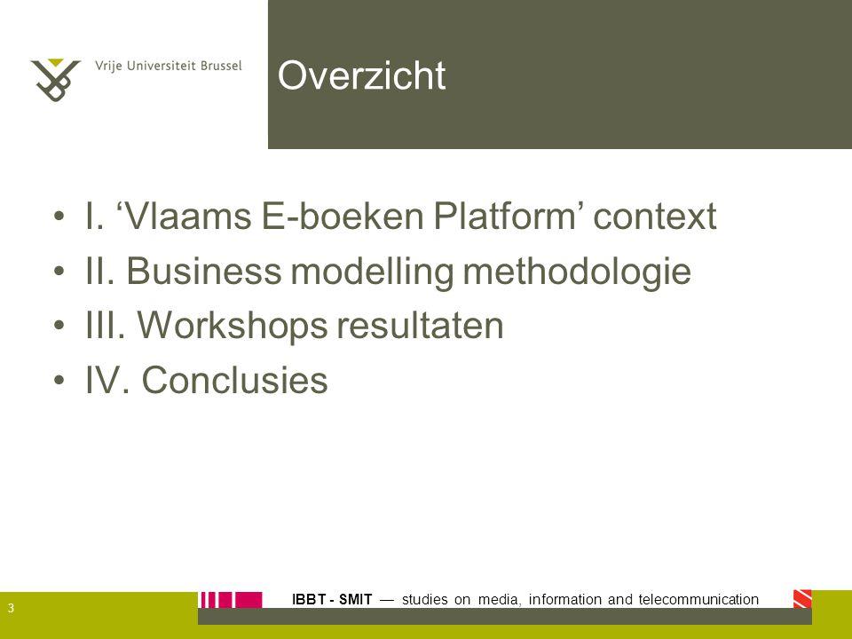 Overzicht I. 'Vlaams E-boeken Platform' context