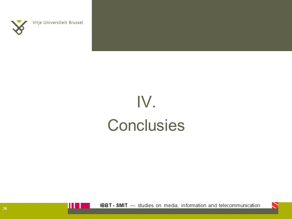 IV. Conclusies 34
