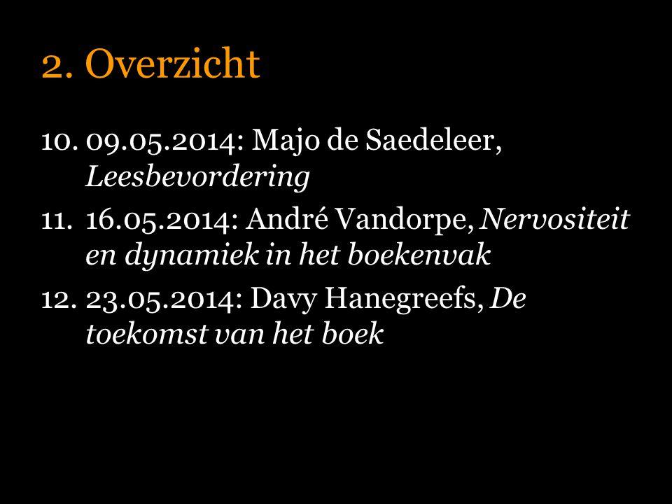 2. Overzicht 09.05.2014: Majo de Saedeleer, Leesbevordering