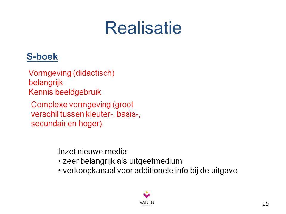 Realisatie S-boek Vormgeving (didactisch) belangrijk