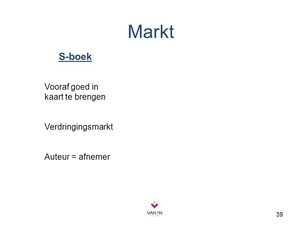 Markt S-boek Vooraf goed in kaart te brengen Verdringingsmarkt