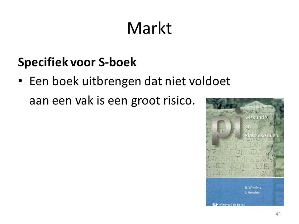 Markt Specifiek voor S-boek Een boek uitbrengen dat niet voldoet
