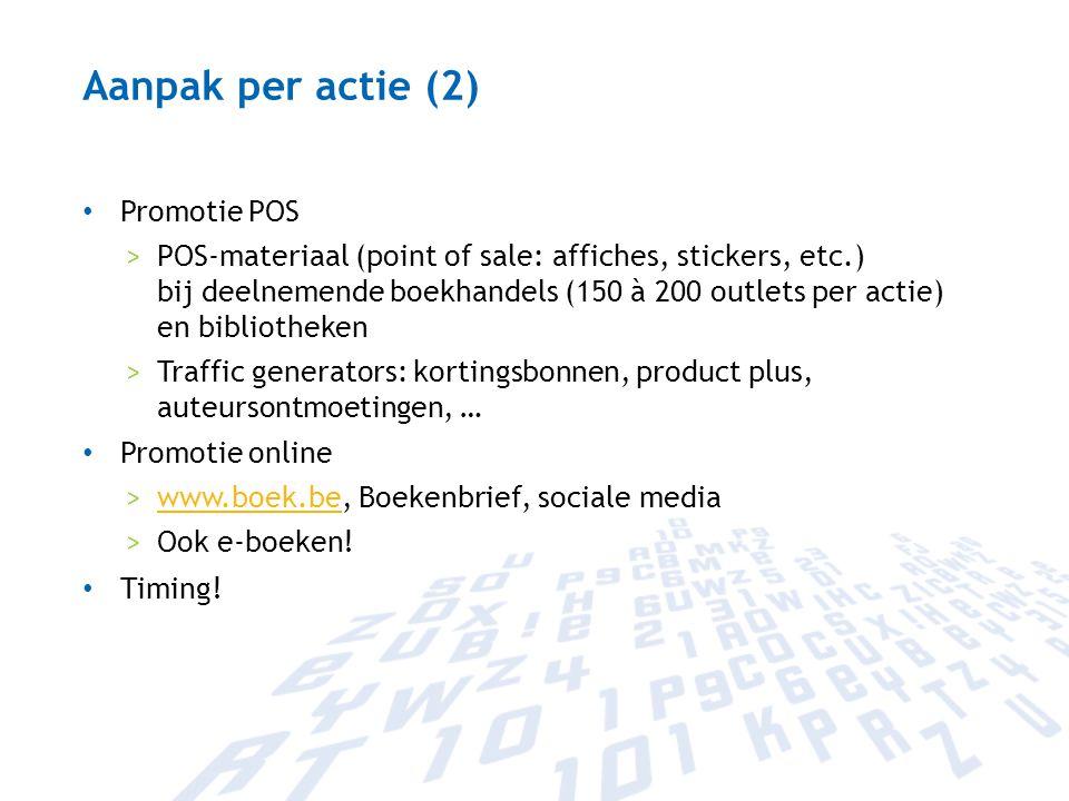 Aanpak per actie (2) Promotie POS