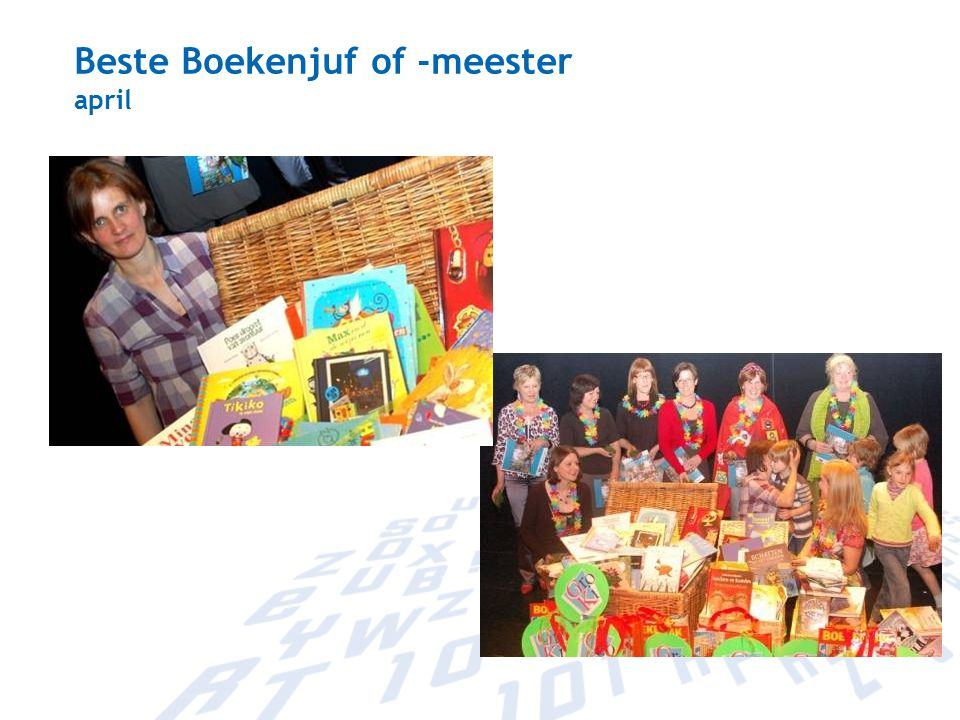 Beste Boekenjuf of -meester april