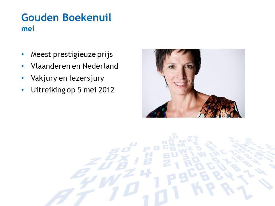 Gouden Boekenuil mei Meest prestigieuze prijs Vlaanderen en Nederland