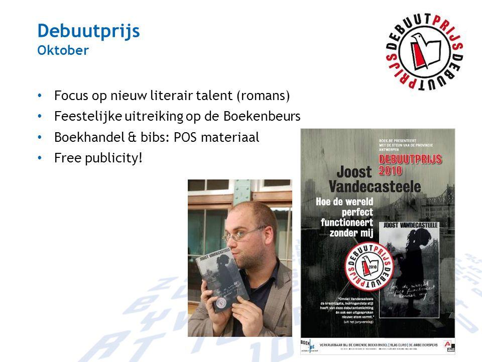 Debuutprijs Oktober Focus op nieuw literair talent (romans)