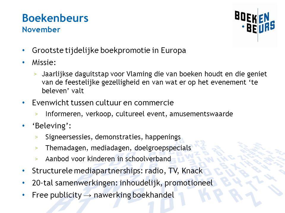 Boekenbeurs November Grootste tijdelijke boekpromotie in Europa