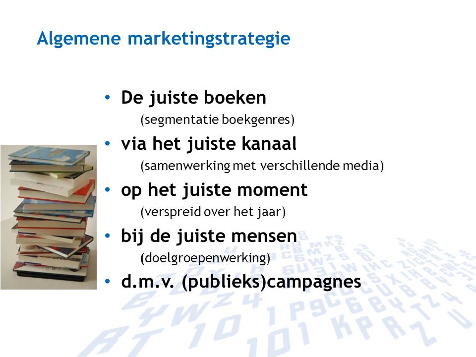 Algemene marketingstrategie