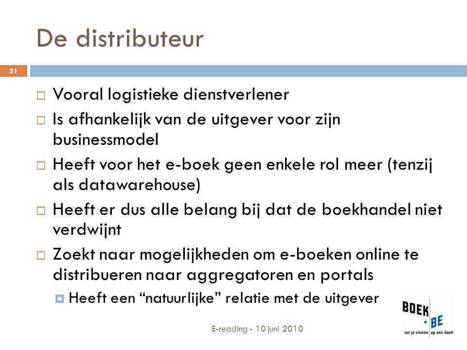 De distributeur Vooral logistieke dienstverlener