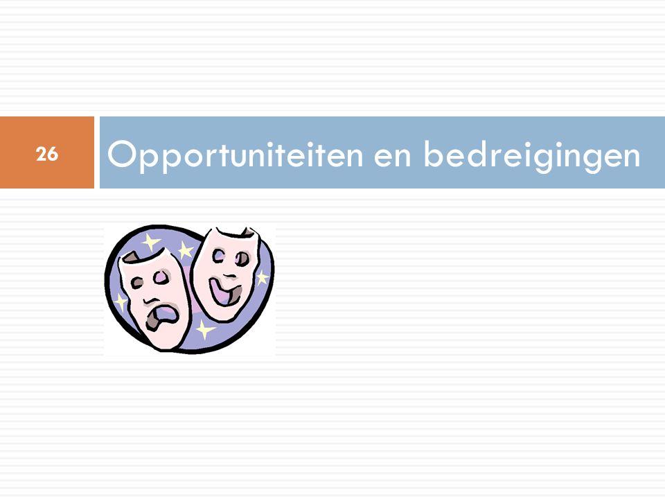 Opportuniteiten en bedreigingen