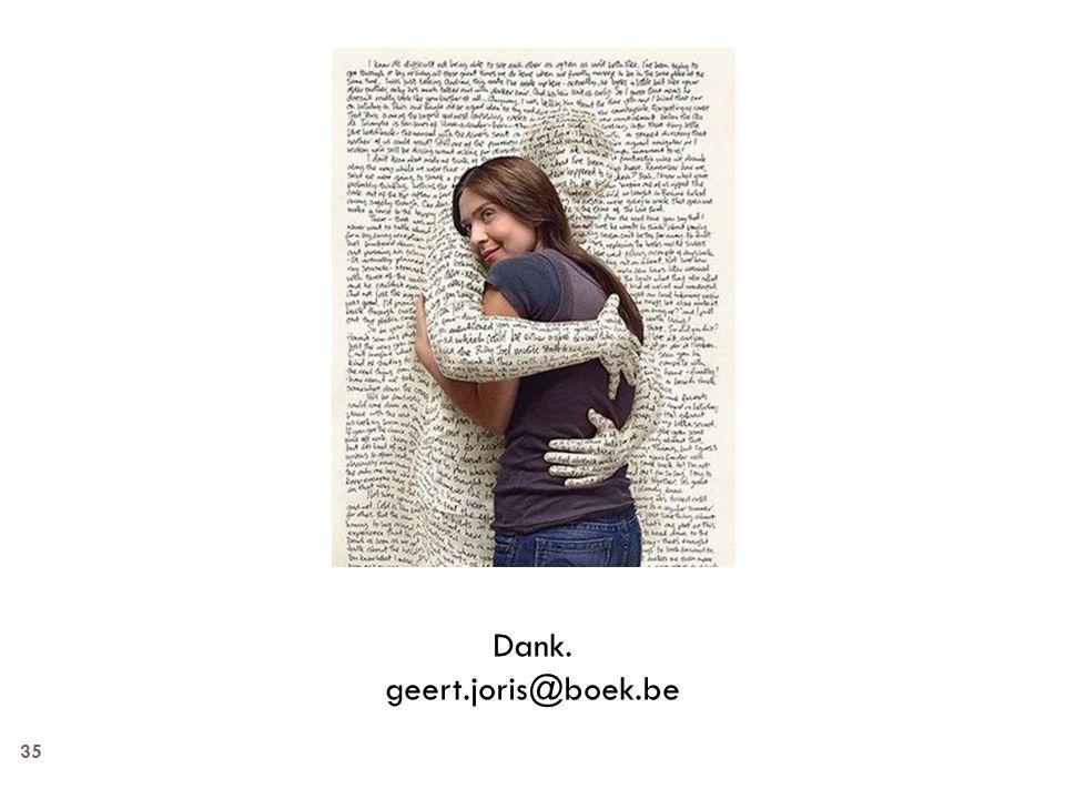 Dank. geert.joris@boek.be