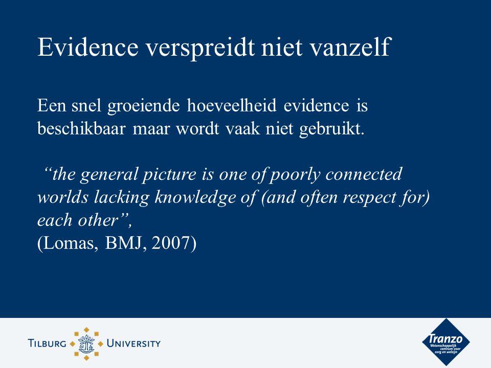 Evidence verspreidt niet vanzelf