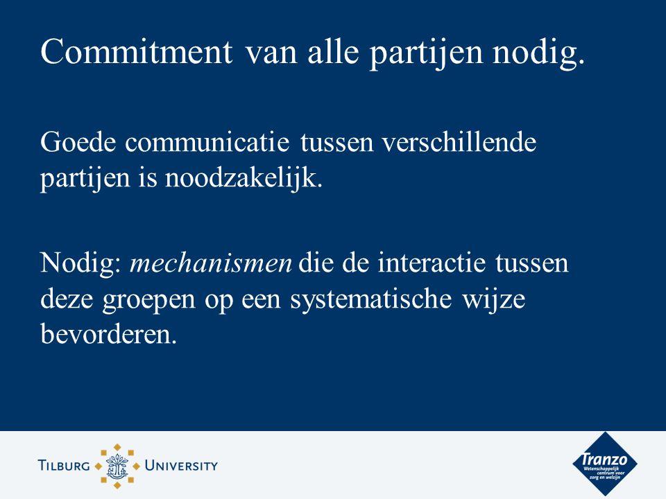 Commitment van alle partijen nodig.