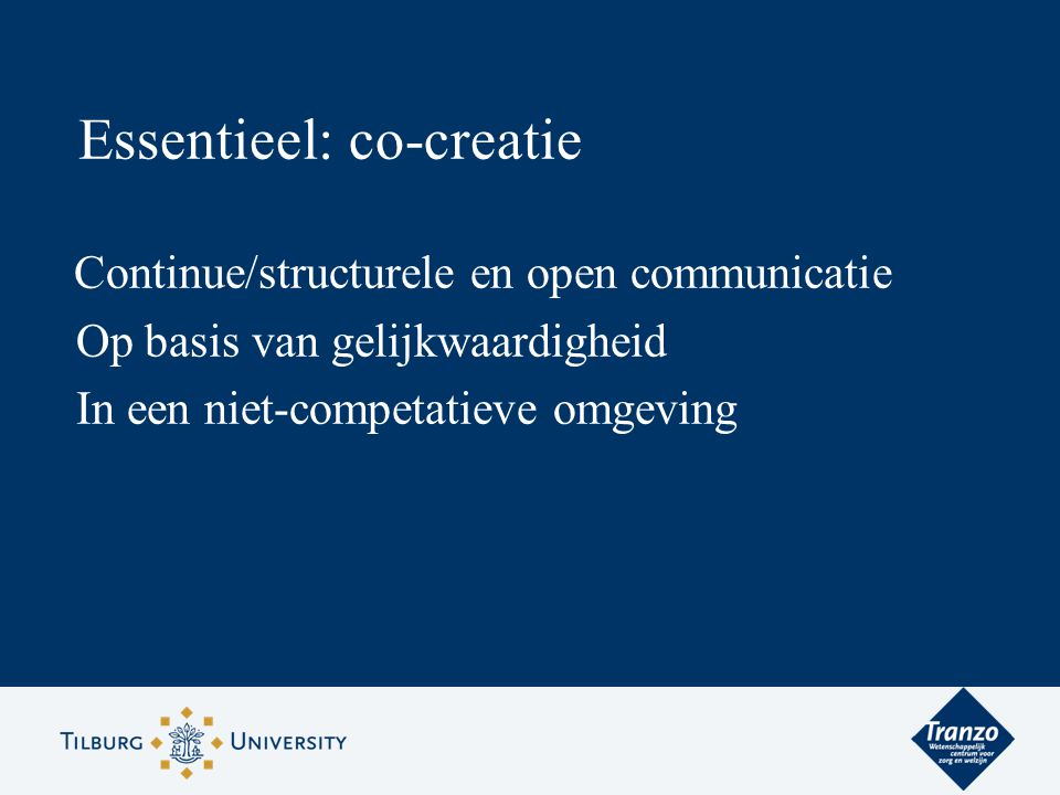 Essentieel: co-creatie