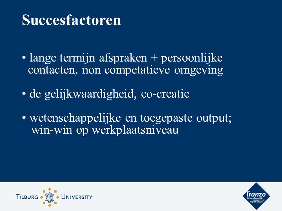 Succesfactoren lange termijn afspraken + persoonlijke