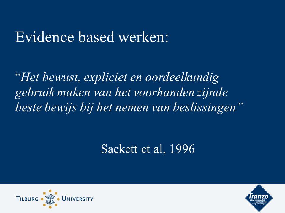 Evidence based werken: