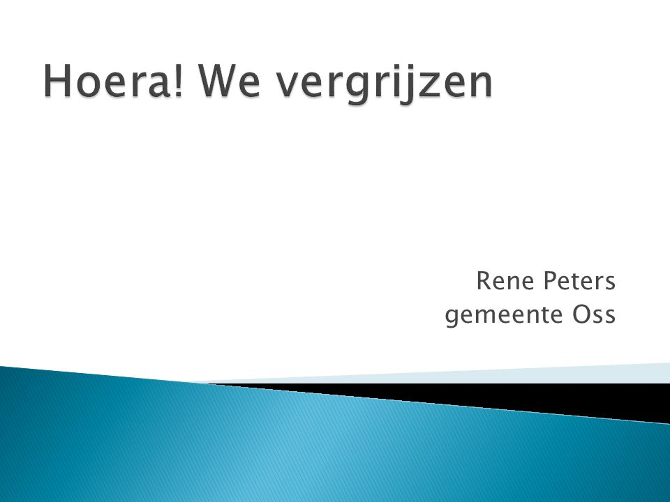 Rene Peters gemeente Oss