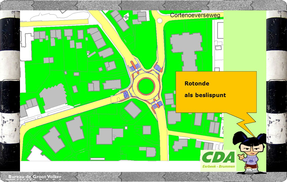 CENTRUMPLAN BRUMMEN Cortenoeverseweg Rotonde als beslispunt