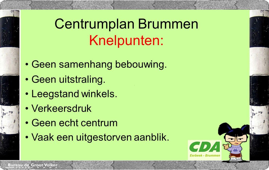Centrumplan Brummen Knelpunten: