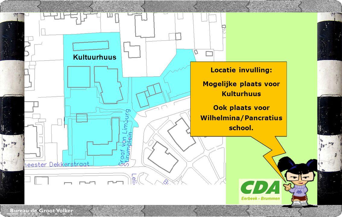CENTRUMPLAN BRUMMEN Kultuurhuus Locatie invulling: