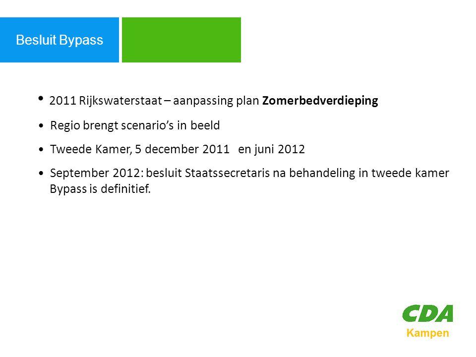 2011 Rijkswaterstaat – aanpassing plan Zomerbedverdieping