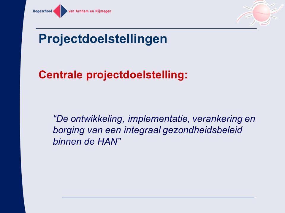 Projectdoelstellingen