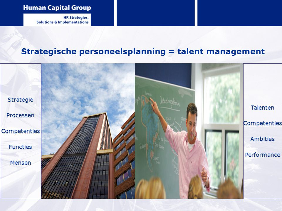Strategische personeelsplanning = talent management