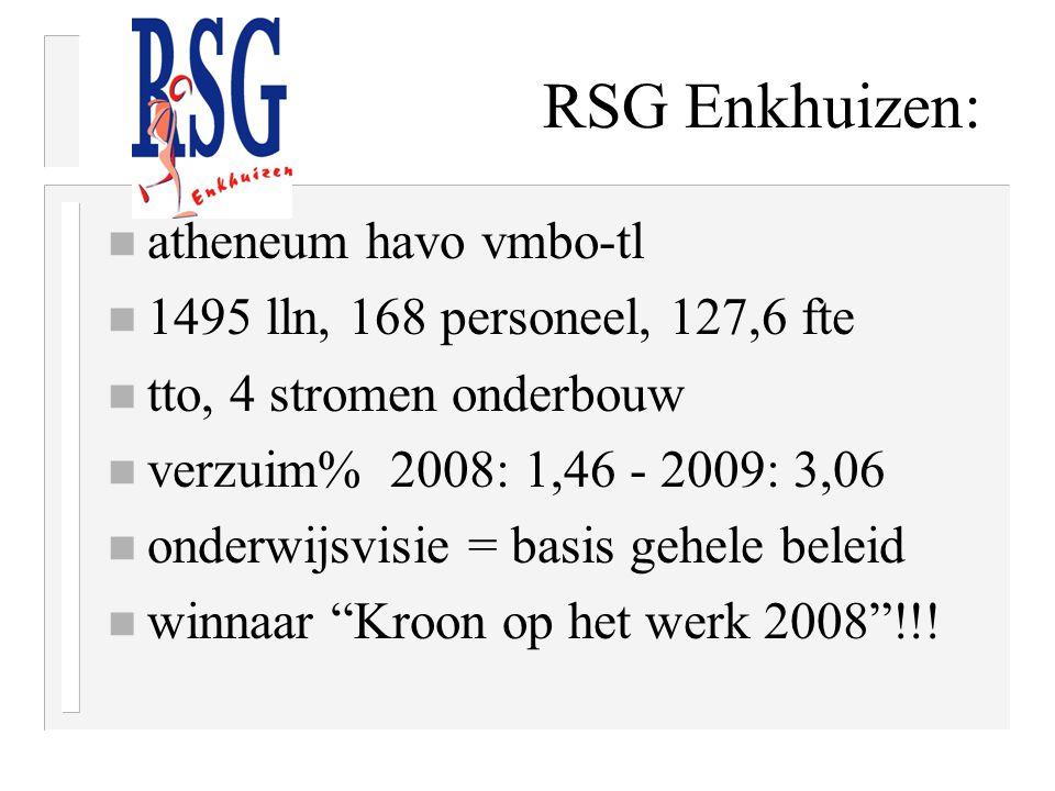 RSG Enkhuizen: atheneum havo vmbo-tl