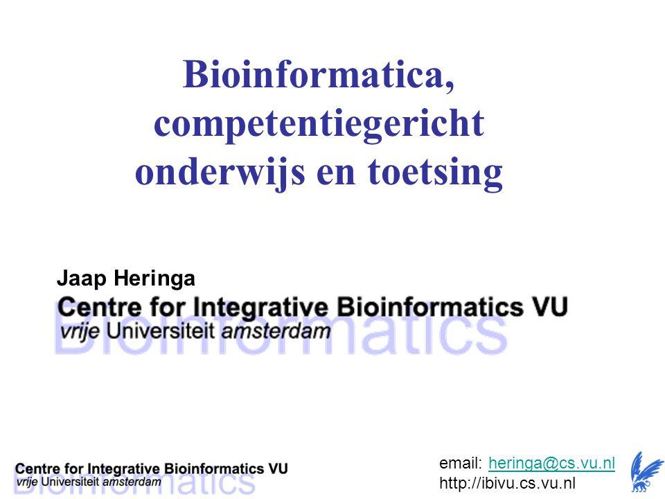 Bioinformatica, competentiegericht onderwijs en toetsing