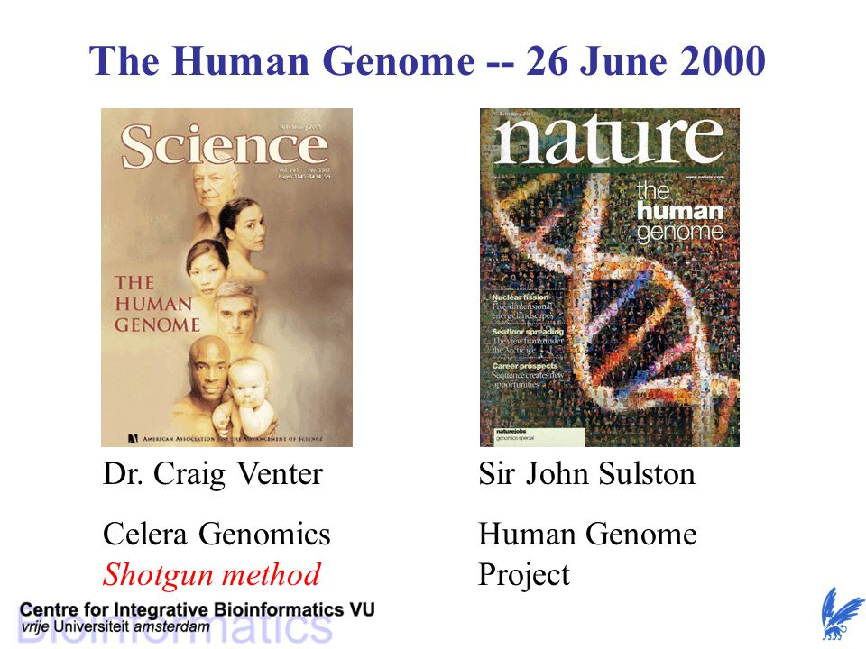 The Human Genome -- 26 June 2000