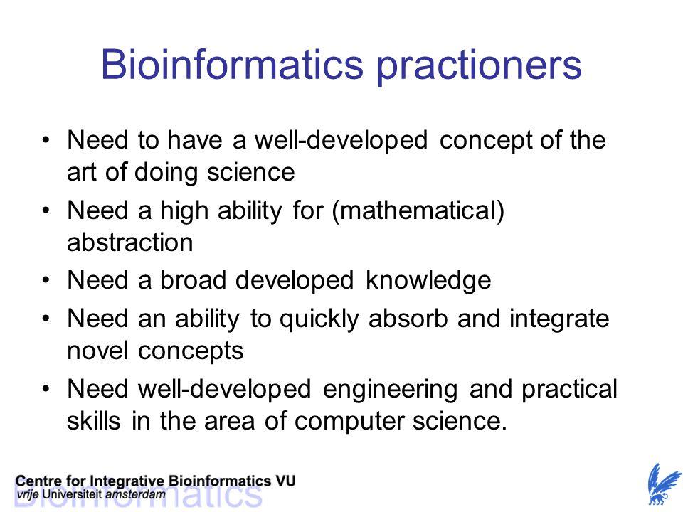 Bioinformatics practioners