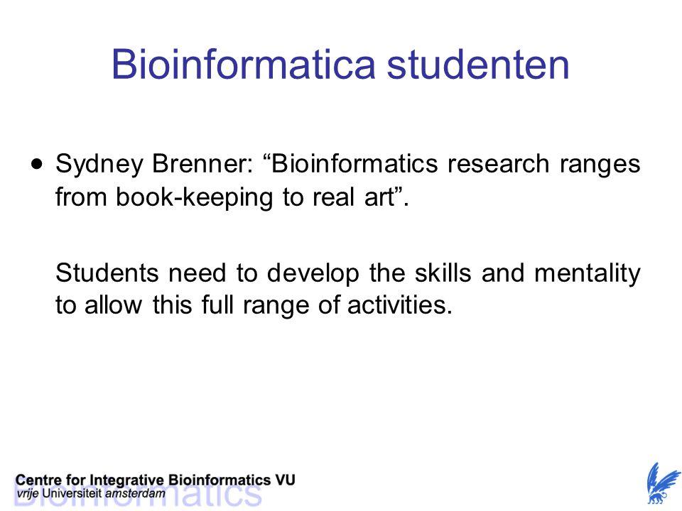 Bioinformatica studenten