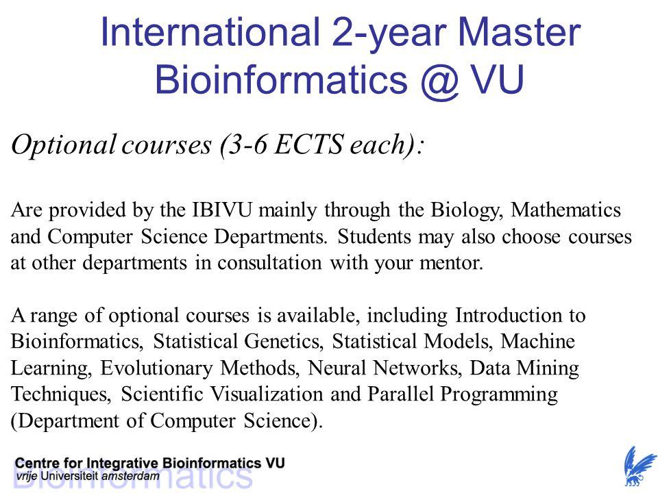 International 2-year Master Bioinformatics @ VU