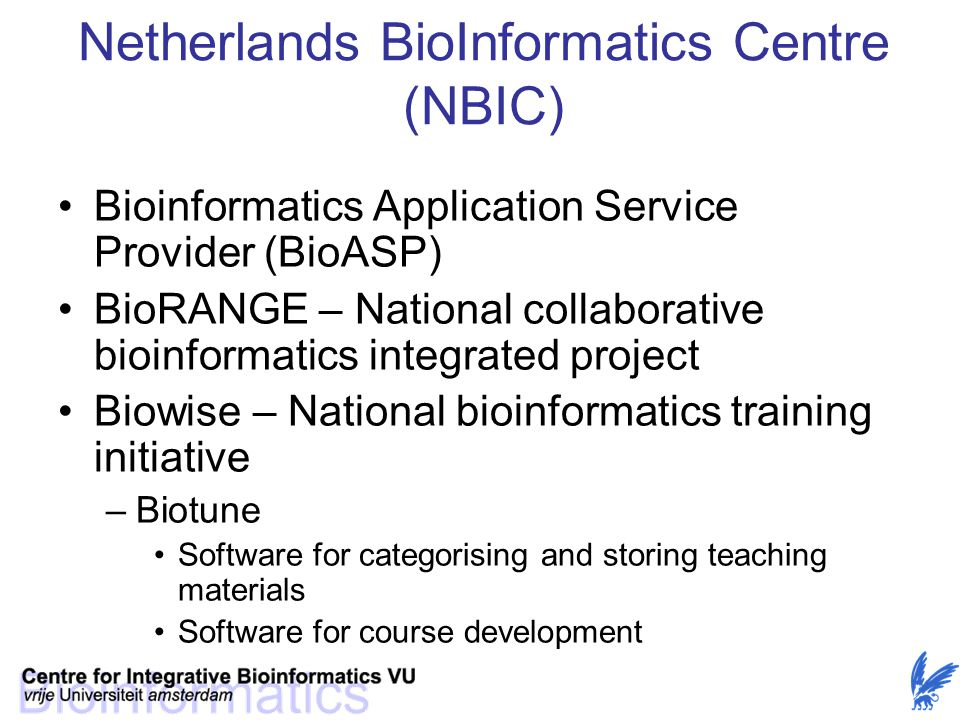 Netherlands BioInformatics Centre (NBIC)