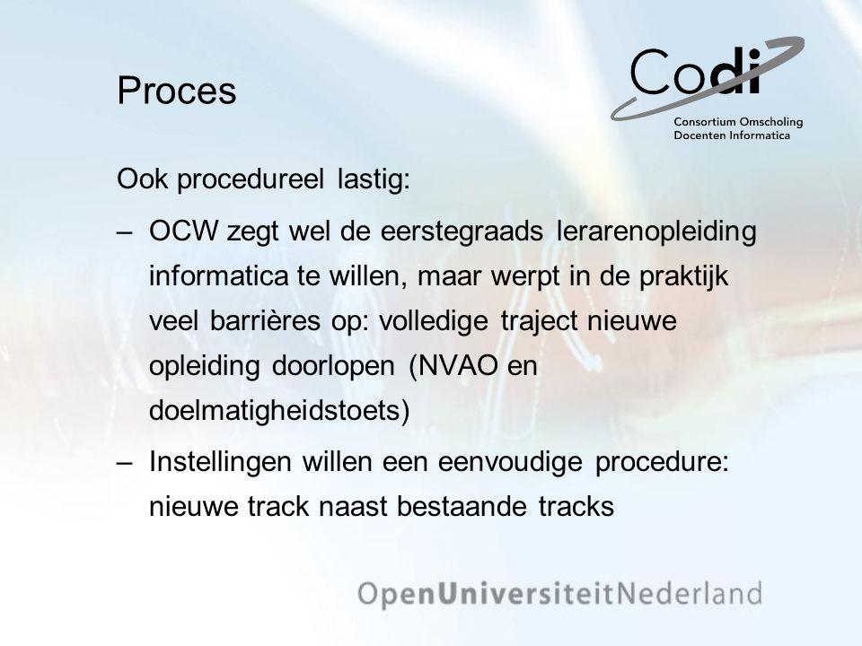 Proces Ook procedureel lastig: