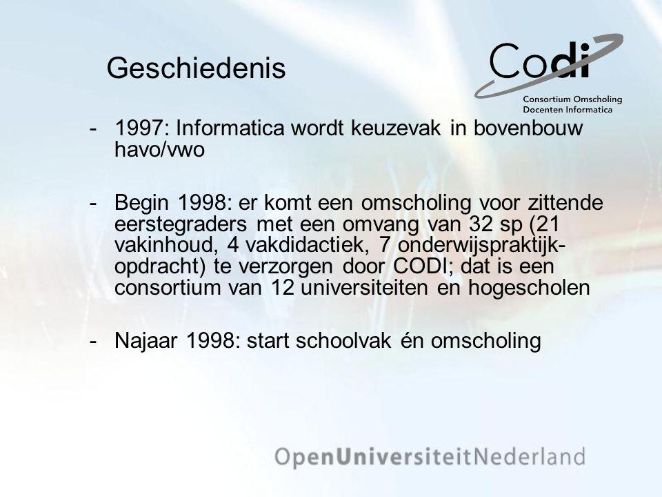 Geschiedenis 1997: Informatica wordt keuzevak in bovenbouw havo/vwo