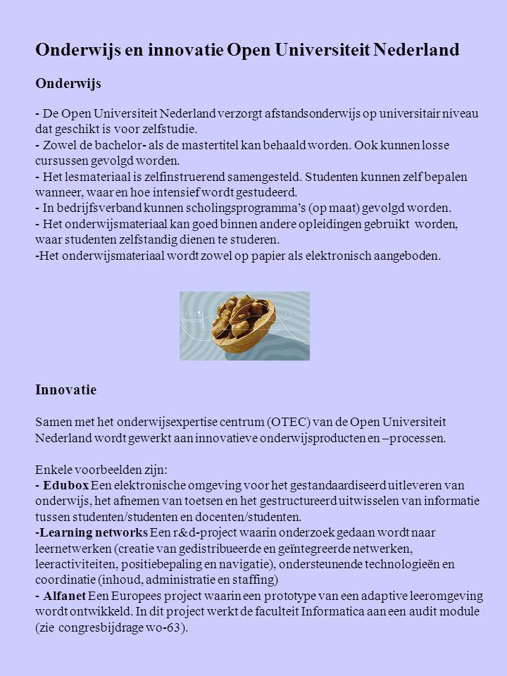 Onderwijs en innovatie Open Universiteit Nederland