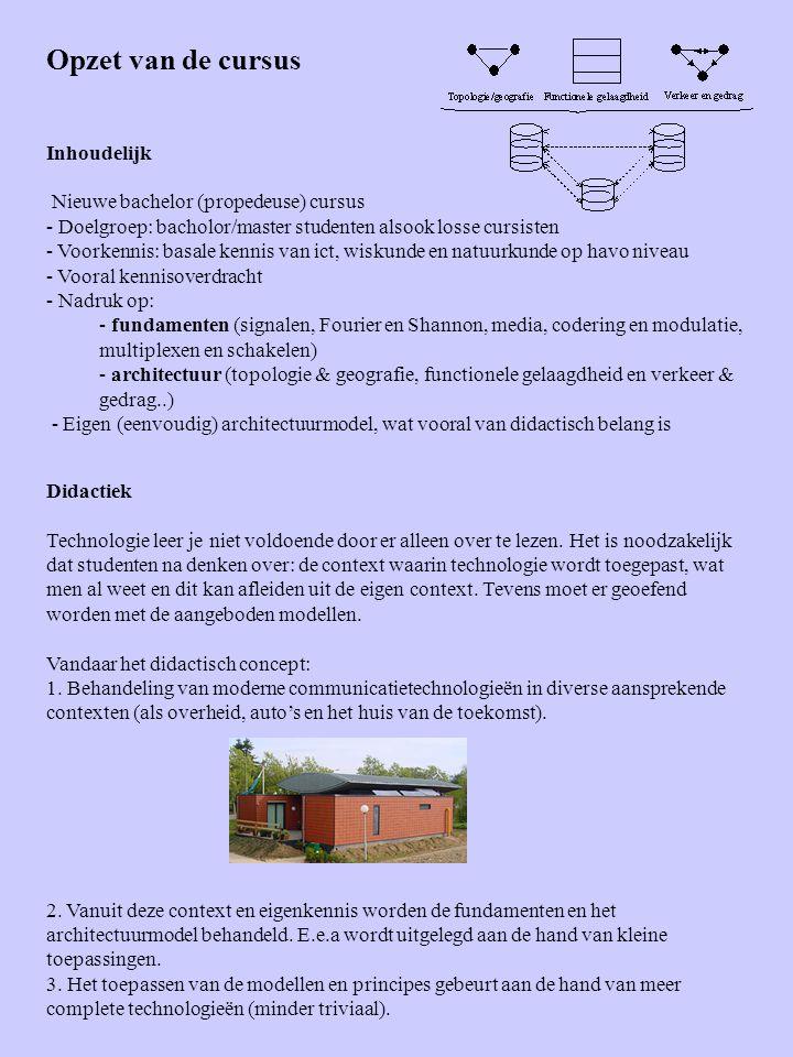 Opzet van de cursus Inhoudelijk Nieuwe bachelor (propedeuse) cursus