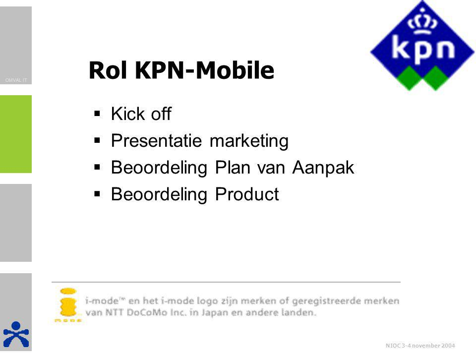 Rol KPN-Mobile Kick off Presentatie marketing