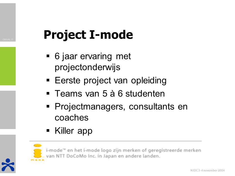 Project I-mode 6 jaar ervaring met projectonderwijs