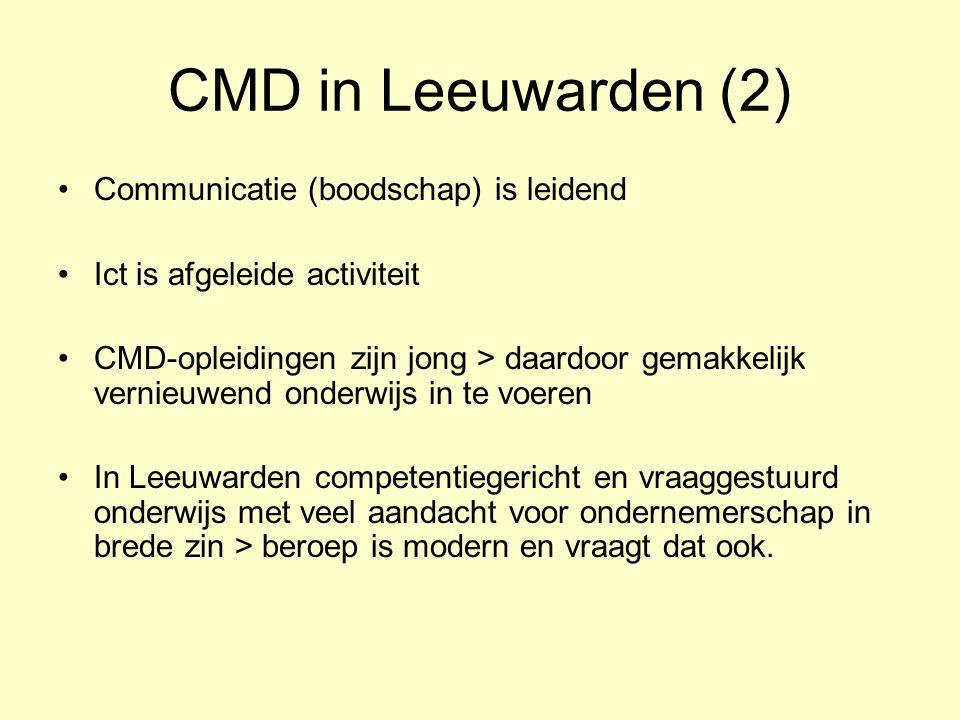 CMD in Leeuwarden (2) Communicatie (boodschap) is leidend